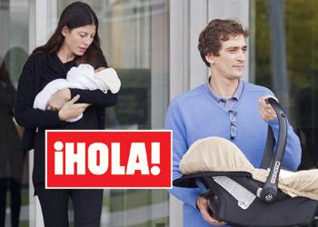 En ¡HOLA!: Alejandra de Borbón y Bosco Ussía ya tienen a sus mellizos en casa