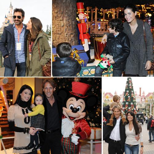 Nuria Roca y Sonia Ferrer con sus familias en Disneyland París