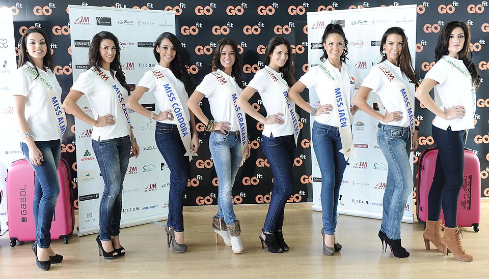 Miss Almería, Miss Cádiz, Miss Córdoba, Miss Granada, Miss Huelva, Miss Jaén, Miss Málaga y Miss Sevilla
