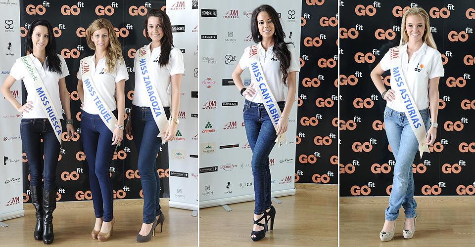 Miss Huesca, Miss Teruel, Miss Zaragoza, Miss Cantabria y Miss Asturias