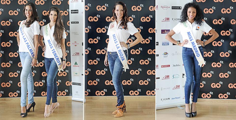 Miss Las Palmas, Miss Tenerife, Miss La Rioja y Miss Madrid