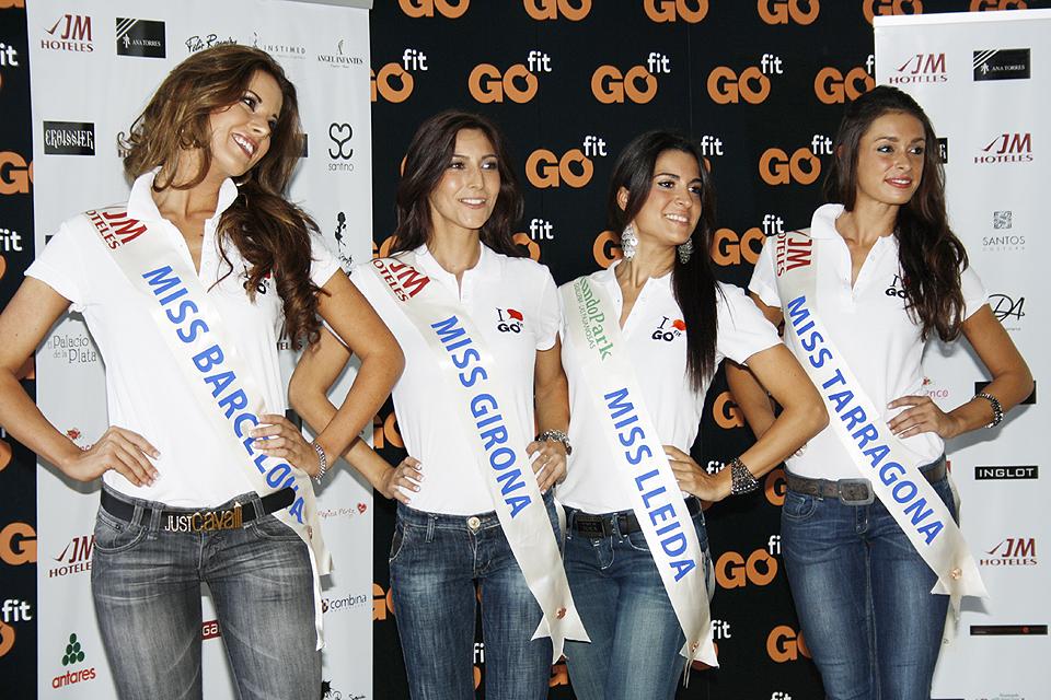 Miss Barcelona, Miss Girona, Miss Lleida y Miss Taragona