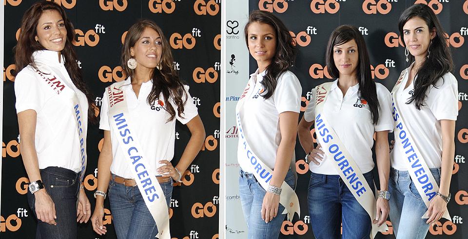 Miss Badajoz, Miss Cáceres, Miss A Coruña, Miss Ourense y Miss Pontevedra