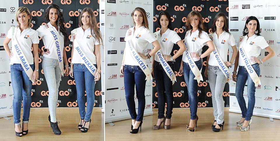 Miss Araba, Miss Guipuzkoa, Miss Bizkaia, Miss Albacete, Miss Ciudad Real, Miss Cuenca, Miss Guadalajara y Miss Toledo