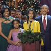La familia Obama canta en un concierto navideño junto a Justin Bieber y Jennifer Hudson