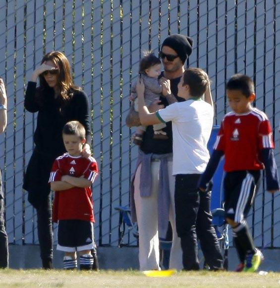 Harper Seven Beckham, la niña de mamá... y de papá