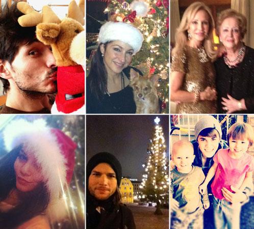 En familia, junto al árbol, disfrazados de Papá Noel... así nos han felicitado las fiestas los famosos en las redes sociales