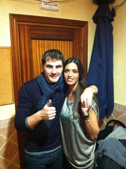Iker Casillas y Sara Carbonero: 'Feliz 2012 desde Navalacruz'