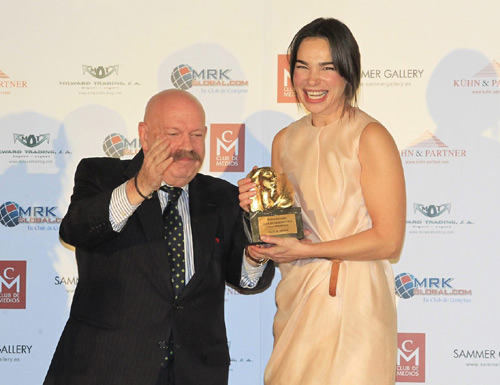 Norma Duval y Matthias Kühn, inseparables en la entrega de premios Perséfone del Club de Medios