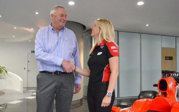María de Villota, primera española en el Mundial de Fórmula 1