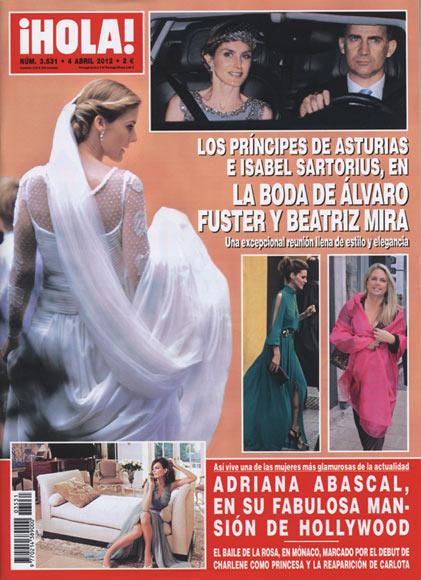 En ¡HOLA!: Los príncipes de Asturias e Isabel Sartorius en la boda de Álvaro Fuster y Beatriz Mira
