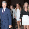 Patricia Rato y Juan Antonio Ruiz 'Espartaco', juntos en la confirmación de su hija Isabel