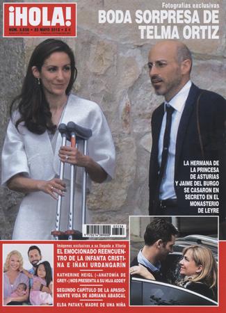 Fotografías exclusivas en ¡HOLA!: La boda sorpresa de Telma Ortiz