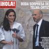 Telma Ortiz y Jaime del Burgo, ajenos a la presencia de fotógrafos en su boda