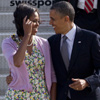 Barack y Michelle Obama, unidos y entrañables delante y detrás de las cámaras