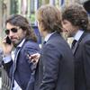 Rosauro Varo y Javier Hidalgo, dos atractivos empresarios desafiando al calor por las calles de Madrid