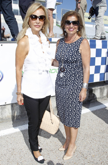 Jesulín de Ubrique y María José Campanario se ponen el casco por una buena causa