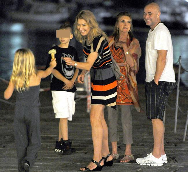 Las vacaciones más familiares de los extenistas Andre Agassi y Steffi Graf