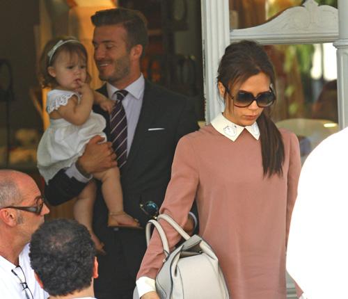 David Beckham 'desconecta' por unas horas de sus compromisos olímpicos para reunirse con sus chicas