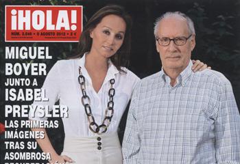 En ¡HOLA!: Miguel Boyer junto a Isabel Preysler, las primeras imágenes tras su asombrosa recuperación