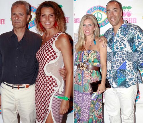 Mar Flores, Feliciano López y Lorenzo Quinn, conquistados por el espíritu de las flores en Ibiza