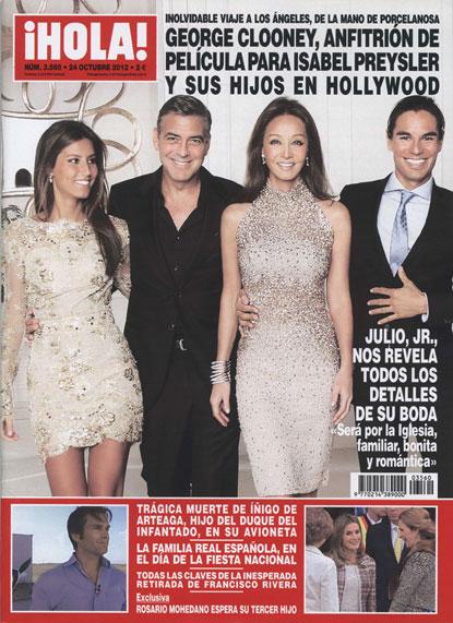 En ¡HOLA!: George Clooney, anfitrión de película para Isabel Preysler y sus hijos en Hollywood