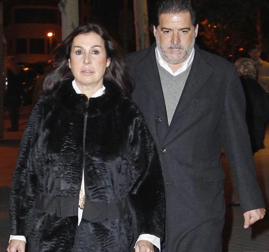 Carmen Martínez-Bordiú y José Campos acompañan a Luis Alfonso de Borbón en el funeral de su tutor