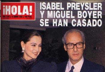 Hace 25 años en la portada de ¡HOLA!:  la boda de Isabel Preysler y Miguel Boyer