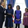 Sasha Obama en el juramento del presidente de Estados Unidos por segunda vez: 'Buen trabajo, papá. No la fastidiaste'