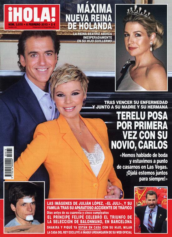 En ¡HOLA!, Terelu Campos posa por primera vez con su novio, Carlos