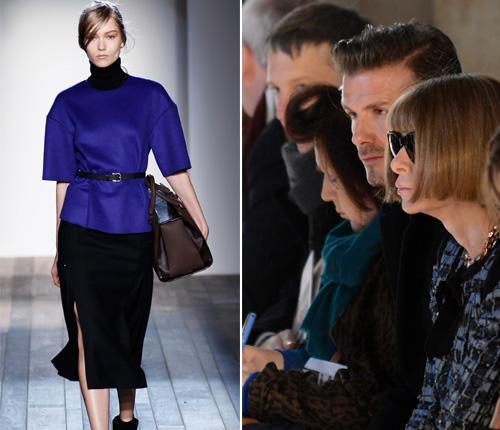David Beckham y Harper celebran con Victoria el éxito de su desfile en Nueva York