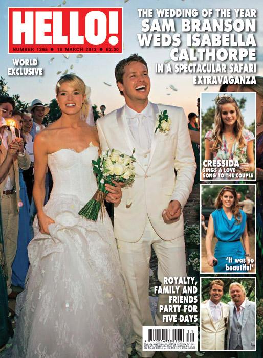 Exclusiva mundial en HELLO!: La impresionante boda del hijo del magnate Richard Branson, Sam, con Isabella Calthorpe