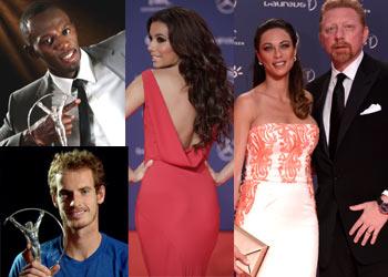 Usain Bolt, Eva Longoria, el hombre supersónico y el humor de Boris Becker, protagonistas de los Laureus