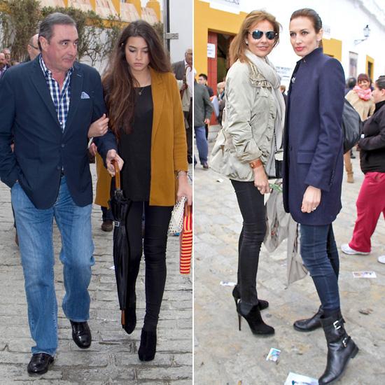 Inés Sastre y su novio, Michele Alfano, Nieves Álvarez, Laura Sánchez… testigos del triunfo de 'El Juli' en la corrida de resurrección en Sevilla