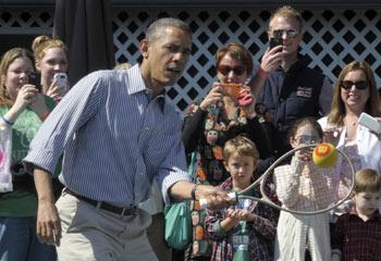 Deporte, cuentacuentos y un tesoro muy dulce... la 'ajetreada' Pascua de los Obama