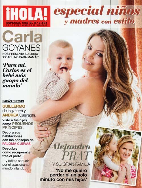 Carla Goyanes posa junto a su hijo en nuestro 'Especial niños y madres con estilo', de regalo con la revista ¡HOLA! de esta semana