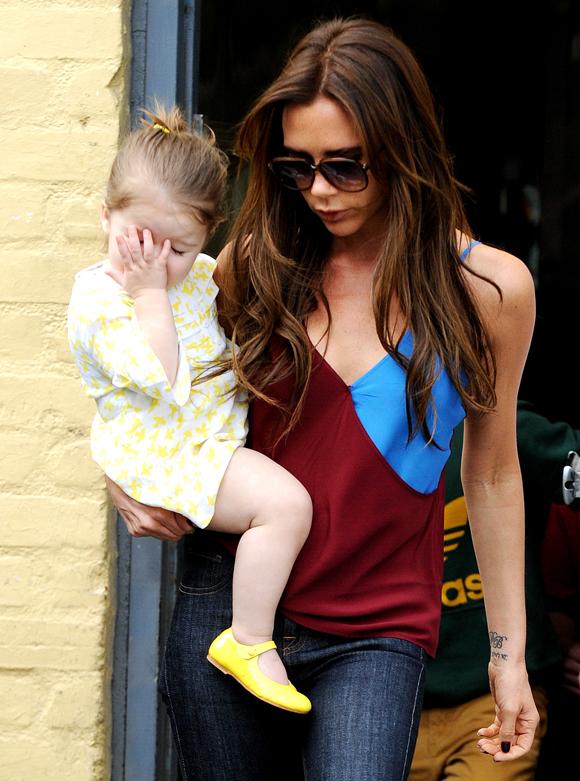La pequeña Harper, el sol de Victoria Beckham
