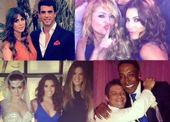 Alejandro Sanz, Paulina Rubio, Eva Longoria, Elena Tablada... juntos en una boda en Puerto Rico