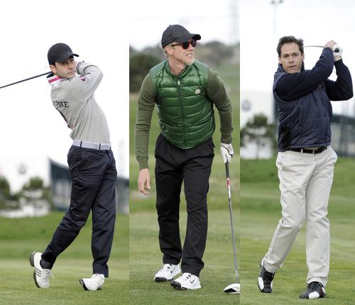 Ni polo, ni toreo, ni fútbol, Luis Alfonso de Borbón, Enrique Ponce y Guti le dan al golf