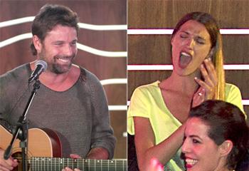 Laura Sánchez 'da el cante' en el concierto de su chico junto a Verónica Hi