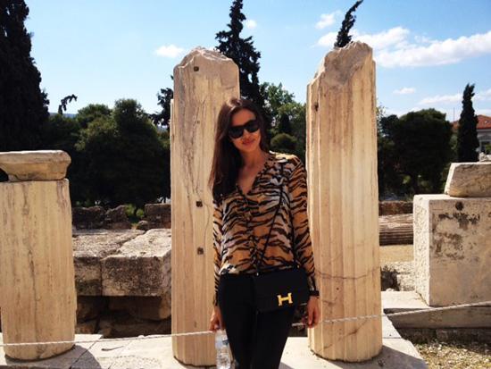 Irina Shayk, enamorada de Grecia: 'Ha sido el mejor viaje de mi vida'