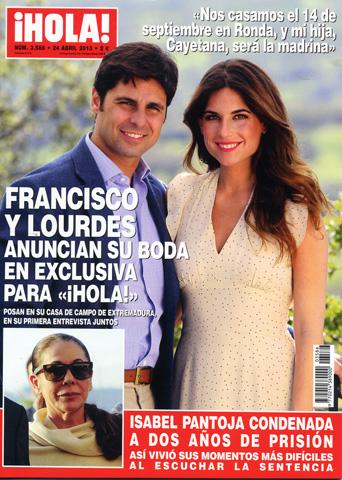 Francisco Rivera y Lourdes anuncian su boda en exclusiva para ¡HOLA!