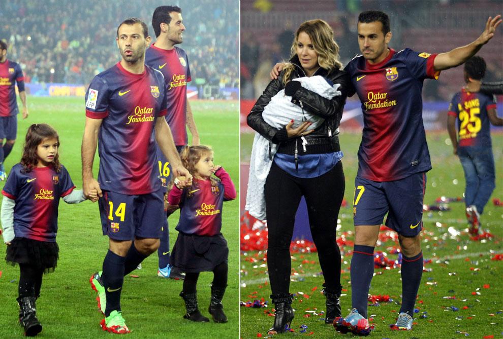 El Barça Celebra En Familia El Título De Liga En El Camp Nou