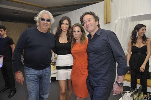 Ana Aznar y Alejandro Agag con Fernando Alonso y Dasha, 'parejas vip' en la fiesta de Flavio Briatore