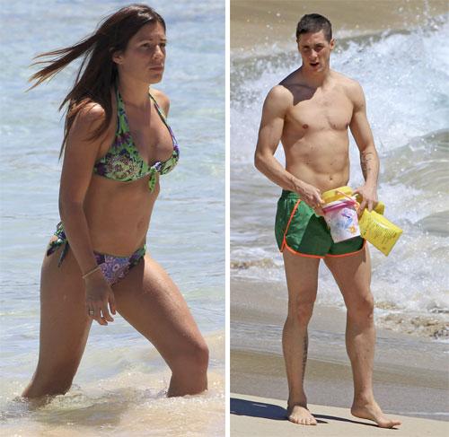 Fernando Torres se relaja en la isla de Ibiza con su familia