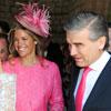 Cristina Valls Taberner y Francisco Reynés asisten a la boda de la hija del presidente de La Caixa