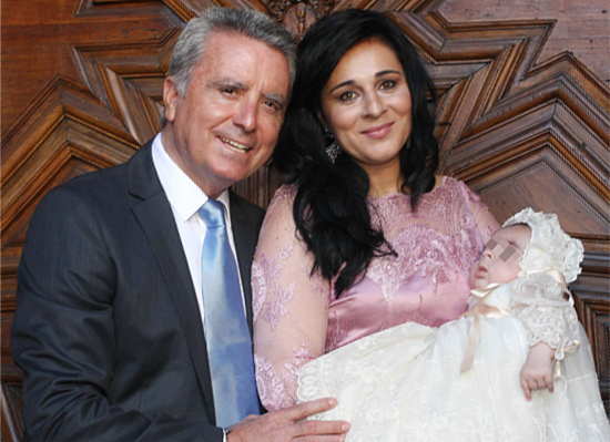 José Ortega Cano y Ana María Aldón bautizan a su hijo