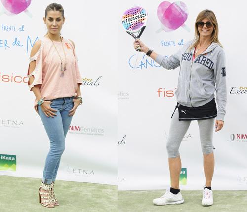 Elena Tablada y Arancha de Benito, madrinas del IV torneo benéfico de pádel de la fundación Sandra Ibarra