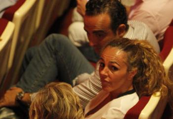 Rocío Carrasco y Fidel Albiac, noche en el teatro junto a María Teresa Campos