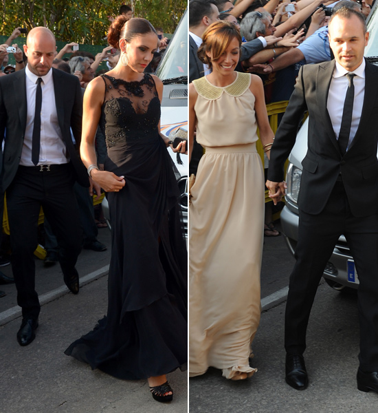Las chicas del Barça acaparan todas las miradas en la boda de Xavi Hernández